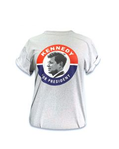 Adult JFK Campaign Button Tee