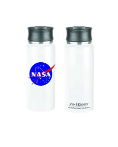 JFK NASA White Travel Mug