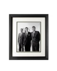 Three Kennedy Brothers Framed Black and White Photo