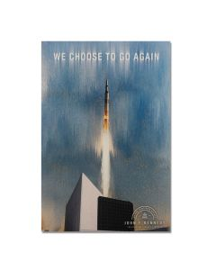 ''We Choose To Go Again'' Space Shuttle Magnet