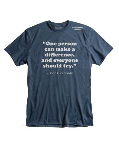 Adult JFK ''Make a Difference'' Tee