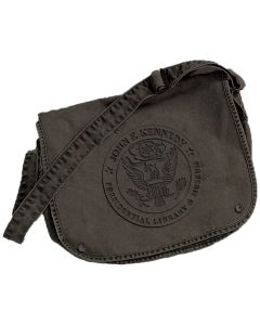 JFK Presidential Seal Embossed Canvas Messenger Bag