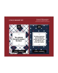 JFK Quotes: Two Magnet Set