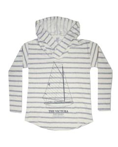 Ladies ''Victura'' Red-Striped Hoodie