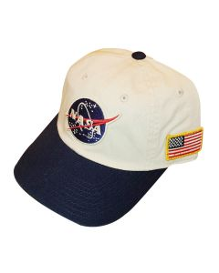 Adult Navy/White NASA Cap