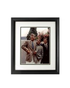 Three Kennedy Brothers Framed Color Photo