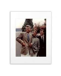 Matted Color Photo of John, Robert, and Edward Kennedy