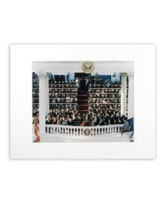 Matted JFK Inauguration Color Photo