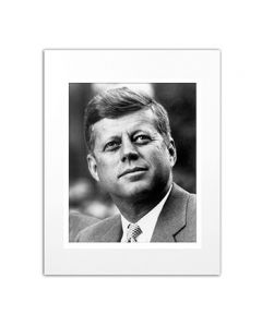 Matted Photo of John F. Kennedy in Seattle, 1959